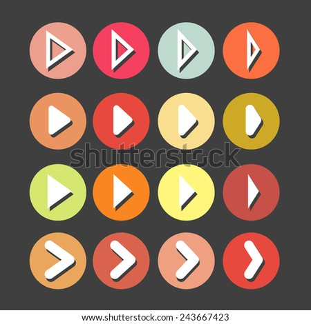 Arrows set. Modern simple pictogram minimal, flat, solid, monochrome, contemporary style. Vector illustration web internet design elements. - stock vector