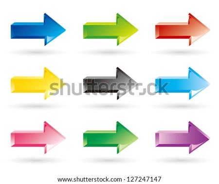 arrows set vector - stock vector
