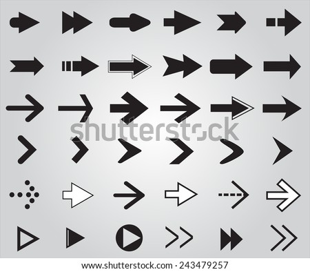 Arrows  set.Vector illustration. - stock vector