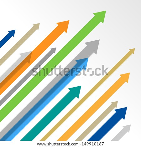 Arrows vector background - stock vector
