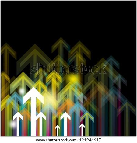 arrows vector for business grow idea - stock vector
