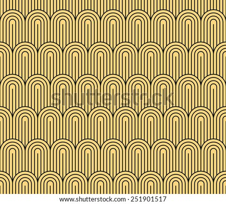 Art Deco seamless vintage wallpaper pattern - stock vector