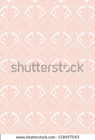 Art Deco Style Repeat Pattern Wallpaper - stock vector