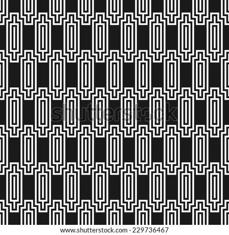 Art deco style seamless ziggurat pattern - stock vector