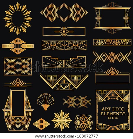 Art Deco Graphic Design Elements Art Deco Vintage Frames And