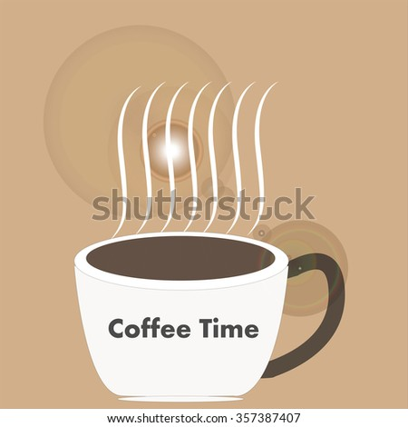 Art design hot coffee - stock vector
