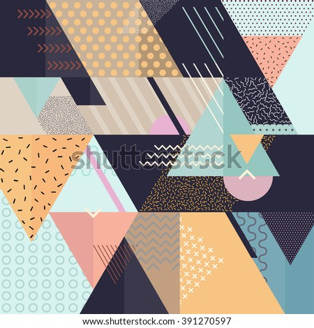 Art geometric background  - stock vector