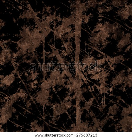Art grunge vintage paper textured background with inkblots and stripes sepia coloured - stock vector