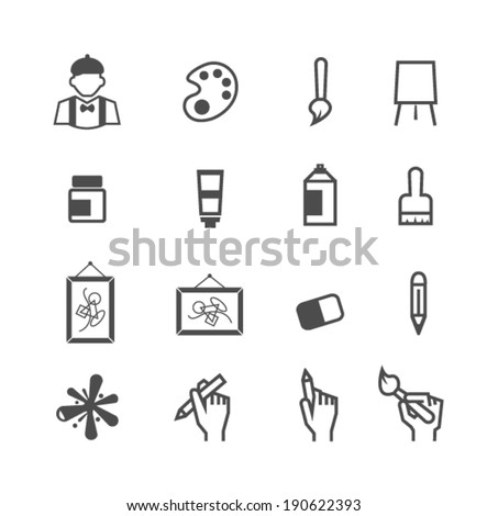 art icons - stock vector