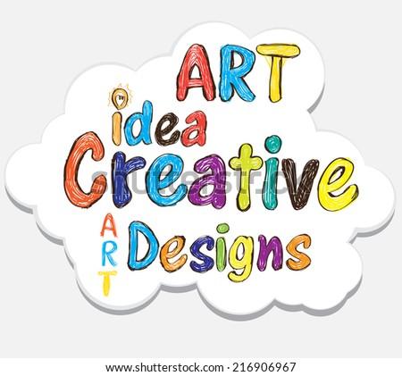 art idea designs illustration concept - stock vector