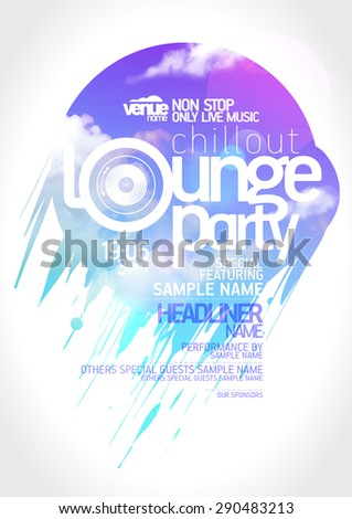 Art lounge party poster design. - stock vector