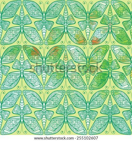 art_nouveau_butterfly_01 - stock vector