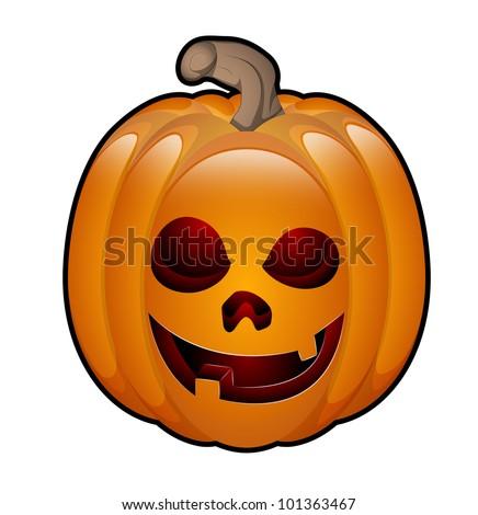 Art of Halloween Jack O Lantern - stock vector