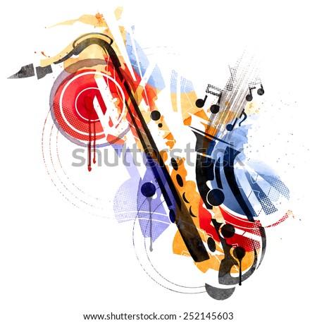 Art of Sax - stock vector