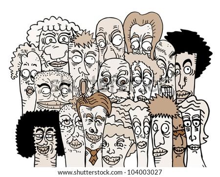 Art people - stock vector