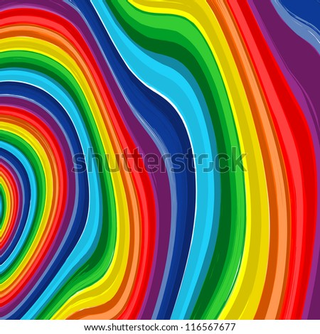 Art rainbow  abstract vector background 8 - stock vector