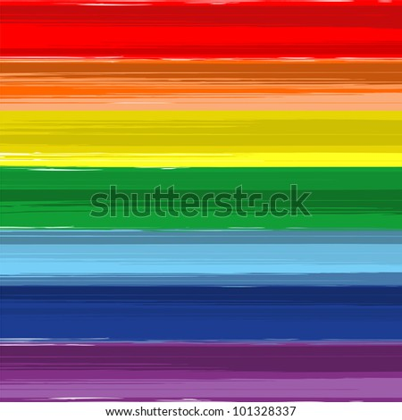 Art rainbow abstract vector background. Version 3 - stock vector