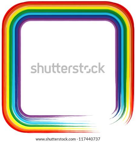Art rainbow frame abstract vector background 4 - stock vector