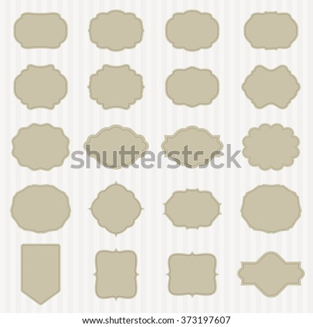 art set of vector vintage frame lable. template for retro design. vector - stock vector