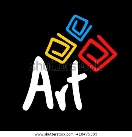 Art symbol - stock vector