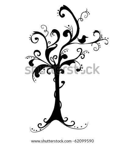 Art tree beautiful - stock vector