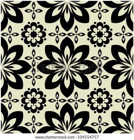 art vintage vector seamless pattern background - stock vector