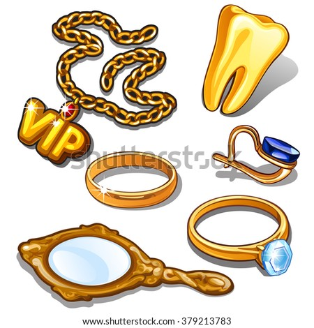 Articles of gold. Vector. - stock vector