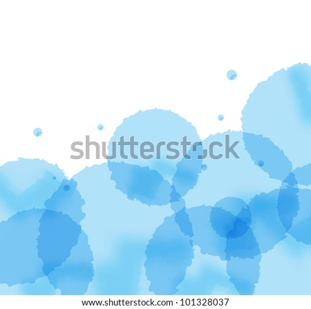 Artistic blue splash vector background - stock vector