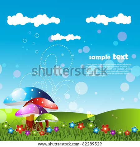 artistic landscape design art - stock vector