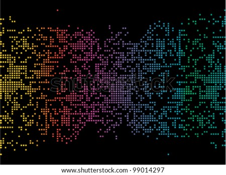 Artistic pixels,  digital map illustration - EPS 8  (No Transparency) - stock vector