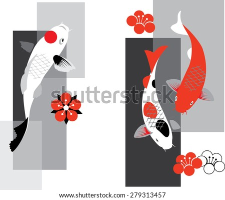 Fish tattoo stock photos images pictures shutterstock for Koi fish vector