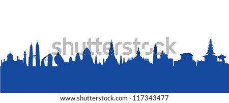 ASEAN landmark. vector - stock vector
