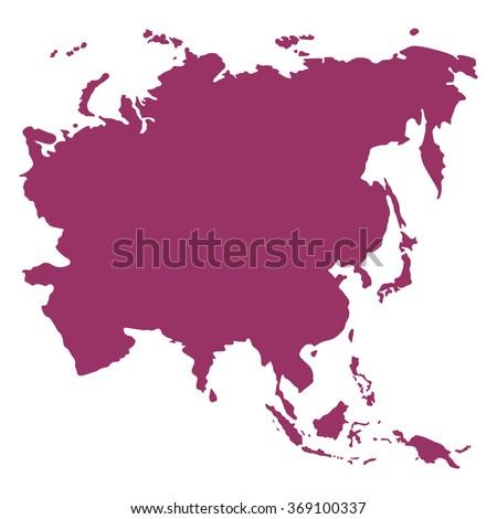 ASIA MAP VECTOR - stock vector