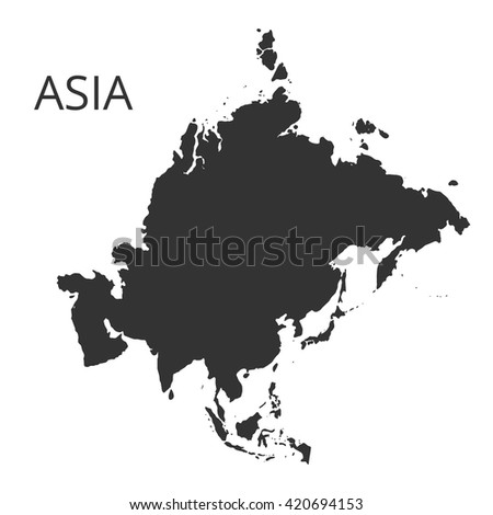 Asia map. Vector illustration. - stock vector