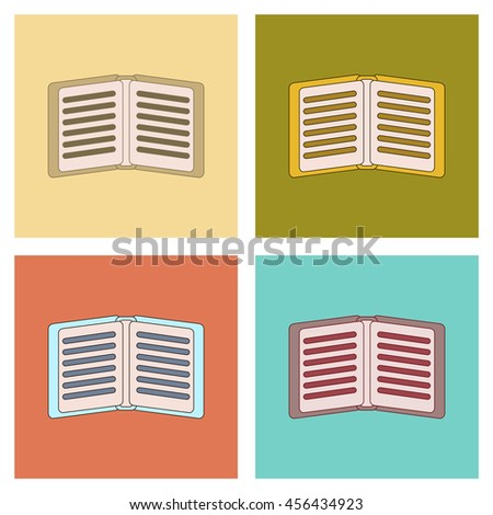 assembly flat icons school notebook - stock vector