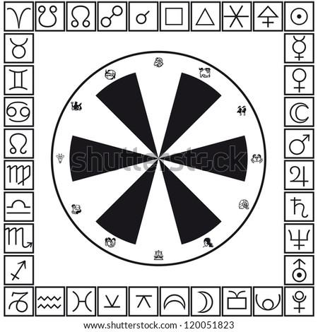 Astrology - stock vector