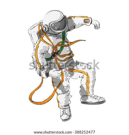 astronaut floating in space cartoon - photo #32