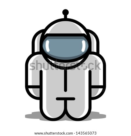 astronaut robot toy. vector icons - stock vector