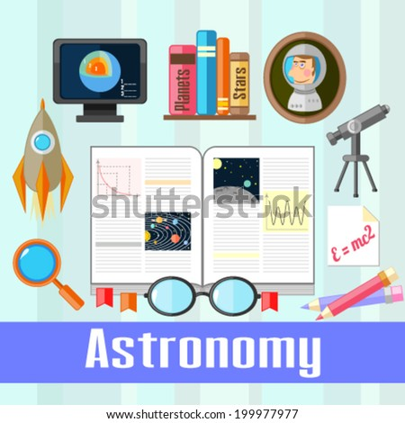 Astronomy  - stock vector