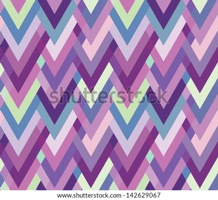 Asymmetric seamless herringbone inlay. Multicolored zigzag. - stock vector