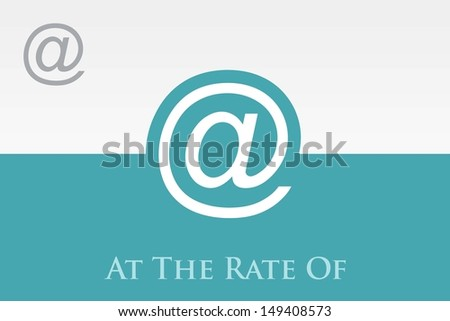 At  the rate of. Icon.  Eps-10 - stock vector
