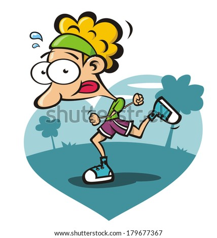 athlete running - stock vector