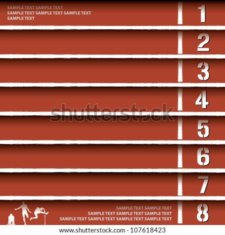 Athletics track lane background - vector illustration - stock vector