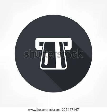 atm card slot icon - stock vector