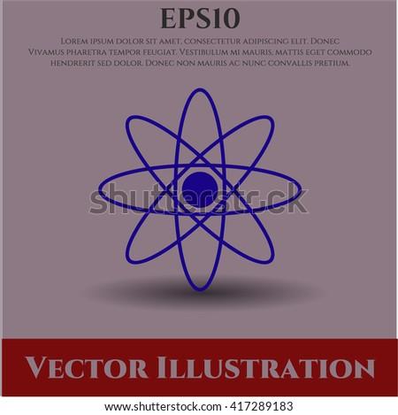 Atom icon, Atom icon vector, Atom icon symbol, Atom flat icon, Atom icon eps, Atom icon jpg, Atom icon app, Atom web icon, Atom concept icon, Atom website icon, Atom, Atom icon vector - stock vector