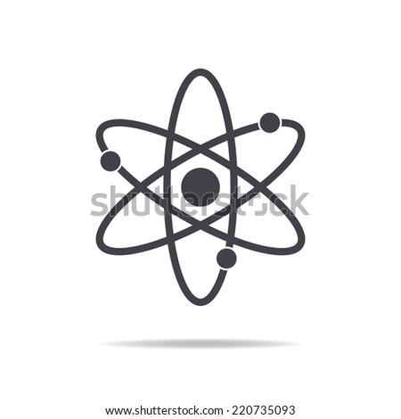 atom icon , vector illustration  - stock vector