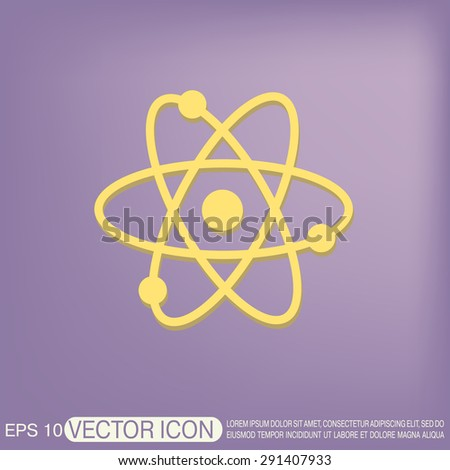 atom, molecule. the symbol of physics and chemistry. symbol icon of physics or chemistry . the study of science - stock vector