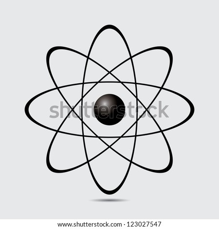 Atom part on white bakground.vector - stock vector