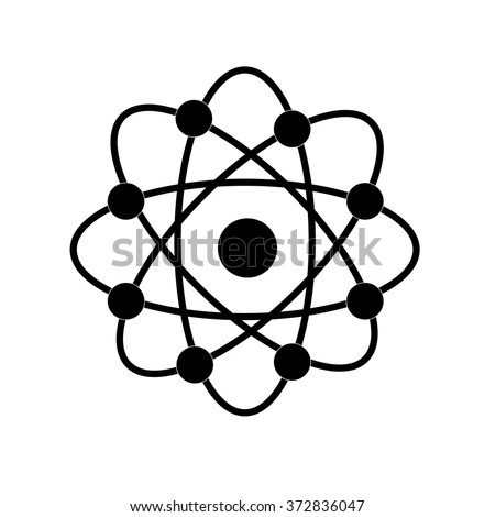 Atom structure vector,symbol of atom,atom ,atom illustration,covalent shell of atom.vector illustration - stock vector