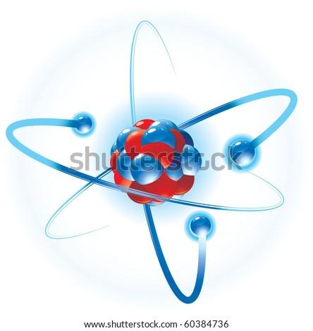 Atom. Vector. - stock vector